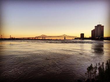 A lovely sunset over the Mississippi!