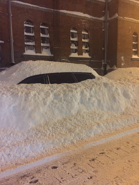 I wonder how long it took to dig this car out. Photo credit: Allison Hansen